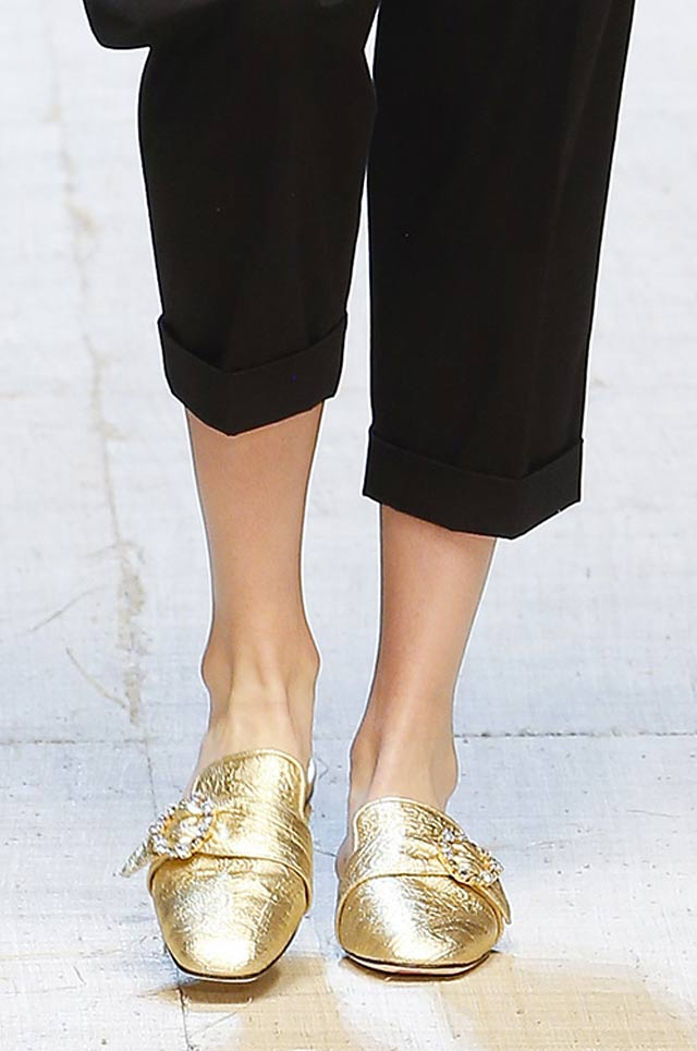 dolce-and-gabbana-summer-2017-metallic-shoes-latest-shoe-trends-spring-summer-2017-gold-flats