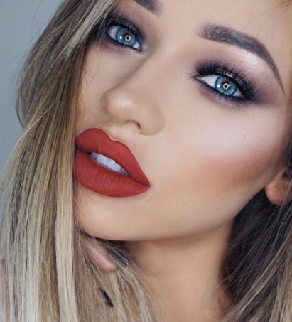 engagement-makeup-for-bride-best-ideas-2017-loreal-dark-red-lips
