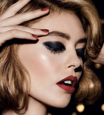 latest-engagement-makeup-dior-black-eye-shadow-party-ideas