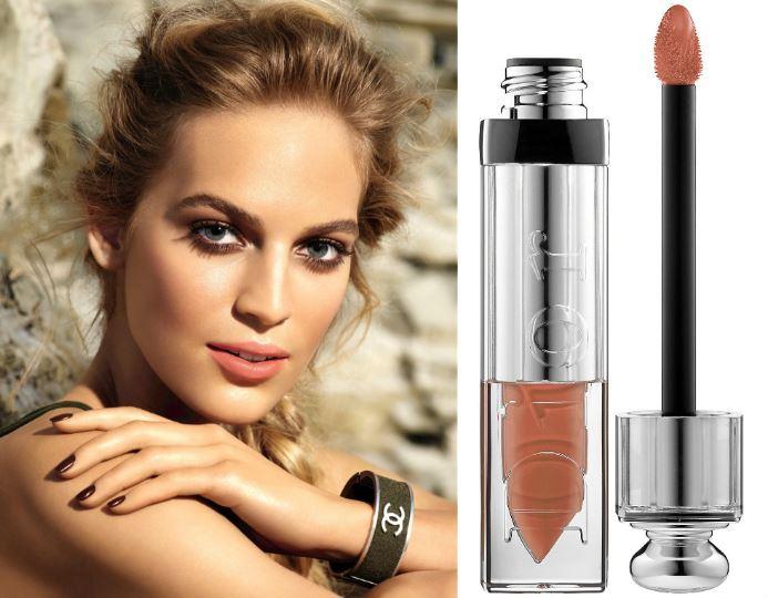 nude color lipstick-nude gloss-liquid lipstick-chanel-dior