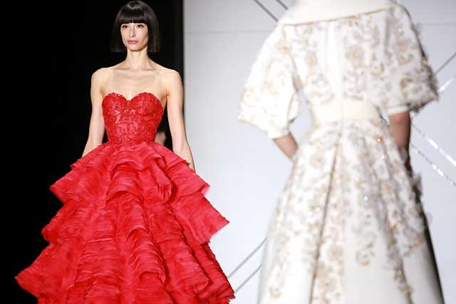 ralph-russo-spring-summer-2017-ss17-red-ruffled-gown