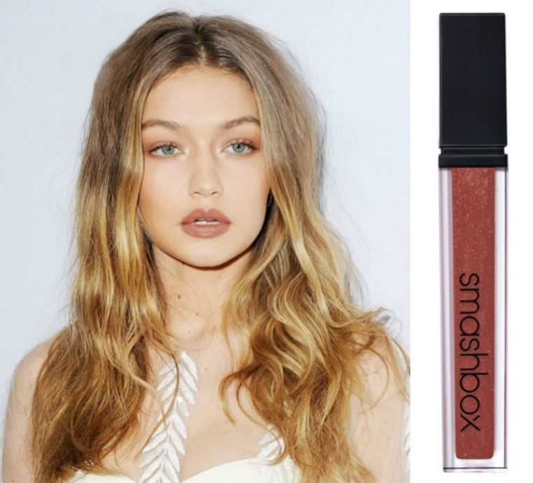smashbox-gigi hadid-dark lipstick-brown nude lipstick-dark red lipstick