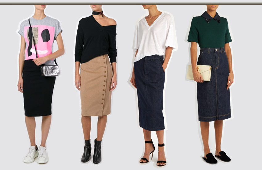 tee-tops-to-wear-with-a-pencil-skirt-poloneck-shortsleeves-longsleeves-white-green-graphic-fashion-trend