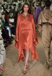 29-ralph-lauren-fall-winter-2017-fw17-collection-orange-asymmetric-dress-sleeves-bright-jewelry