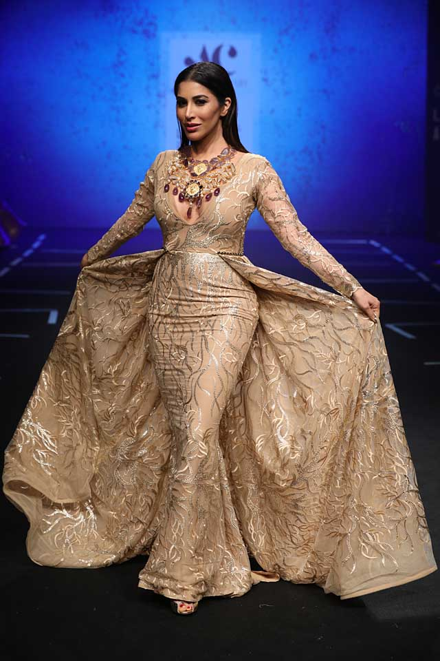Abha-Chowdhary-lakme-fashion-week-s17-summer-resort-2017-dress (3)-sophie chaudhary-metallic-beautiful-gown