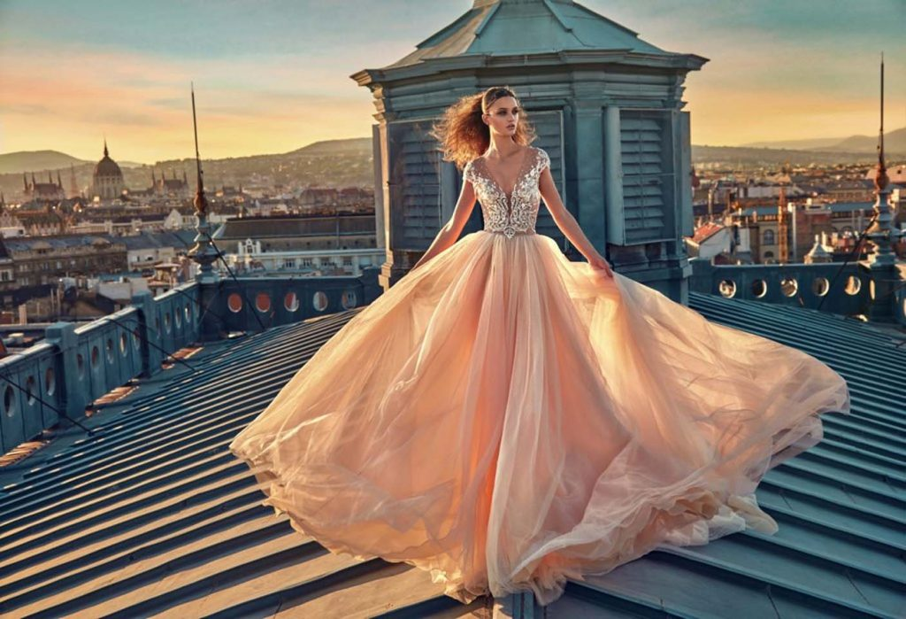 GaliaLahav-bridal-collection-spring-summer-2017-wedding-gowns-designer-beautiful (7)-peach-poofy