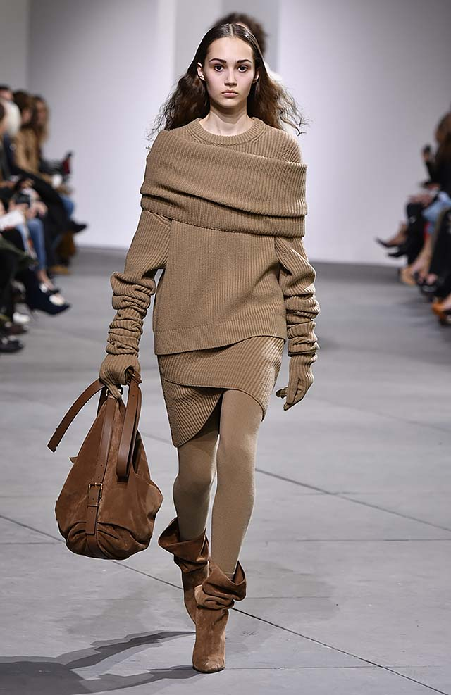 Michael-kors-fall-winter-2017-collection-fw17-34-sweater-dress-tan-brown