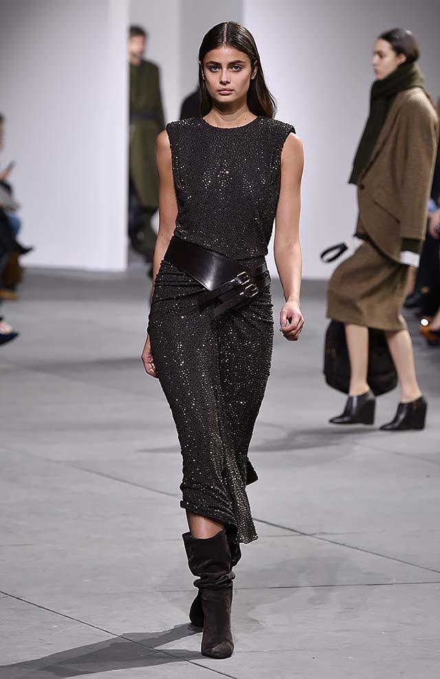 Michael-kors-fall-winter-2017-collection-fw17-43-black-sequin-wrap-dress-broad-belt