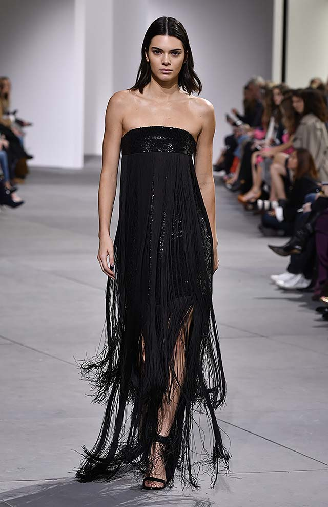 Michael-kors-fall-winter-2017-collection-fw17-65-kendall-jenner-strapless-trimmed-sequin-dress