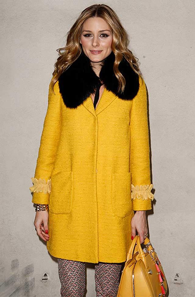 OLIVIA PALERMO-yellow-coat-max-mara-fw17-rtw-fall-winter-2017-celeb-style-frow-front-row-celebrity-fashion