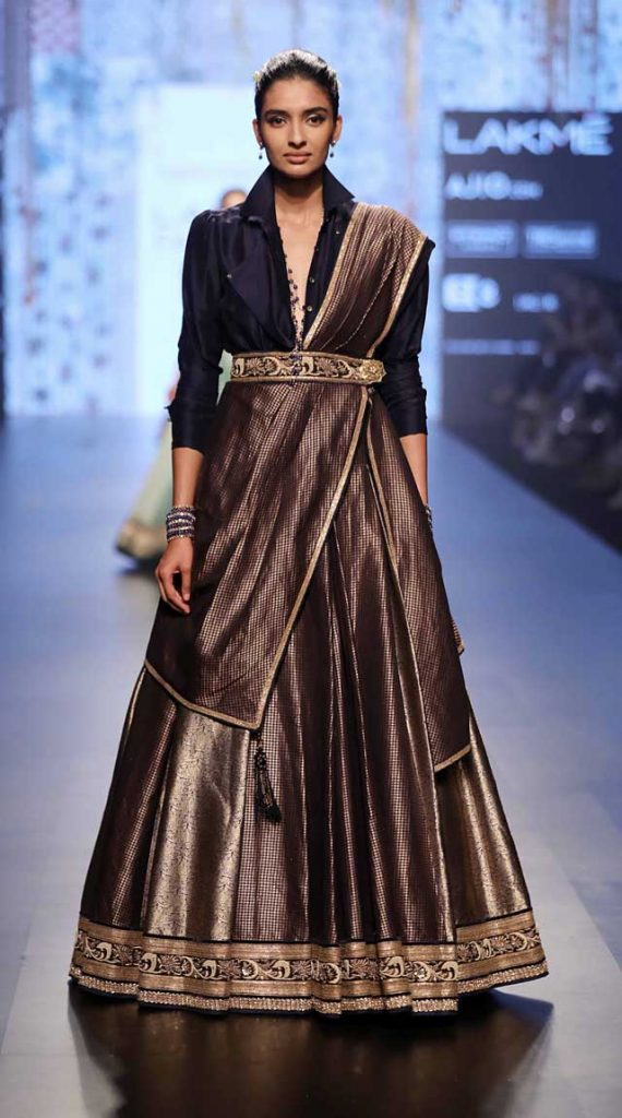 Tarun-Tahiliani-collection-lakme-fashion-week-summer-resort-2017 (4)-lehenga-shirt-indo-western-dress-wedding