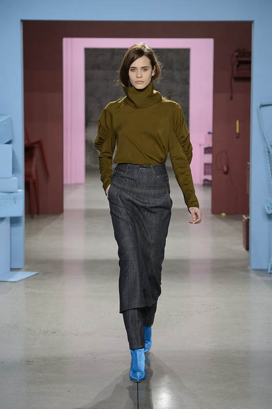 Tibi-fw17-rtw-fall-winter-2017-18-collection (7)-turtle-neck-green