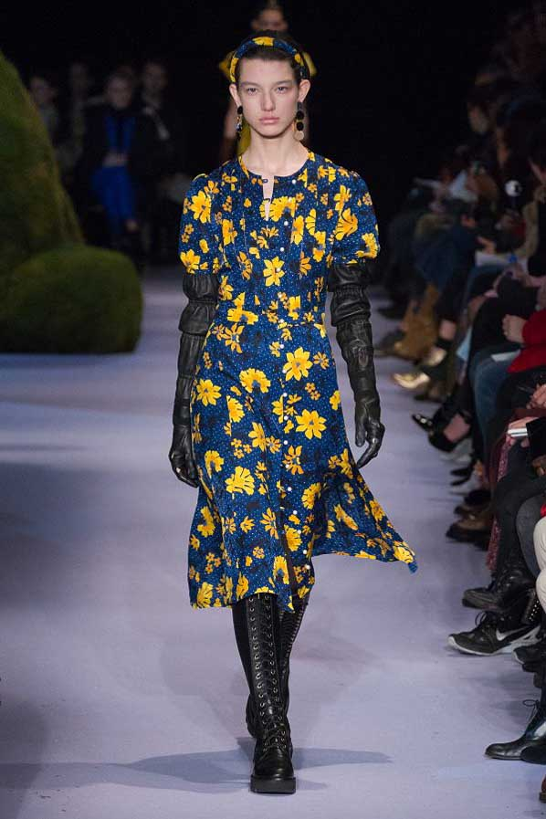 altuzarra-fw17-rtw-fall-winter-2017-18-collection (31)-floral-dress-blue-yellow