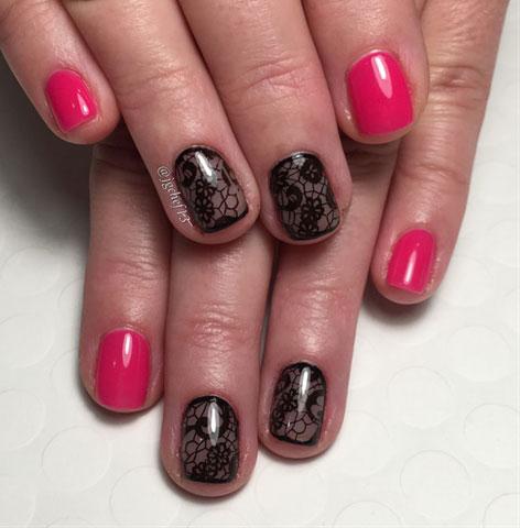 black-lace-nail-art-designs-nailsmag-trends-2017-pink