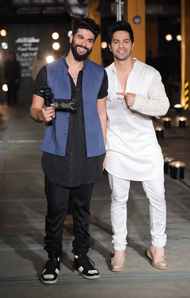 bollywood-Varun Dhawan-Designer-Kunal Rawal-lakme-fashion-week-2017