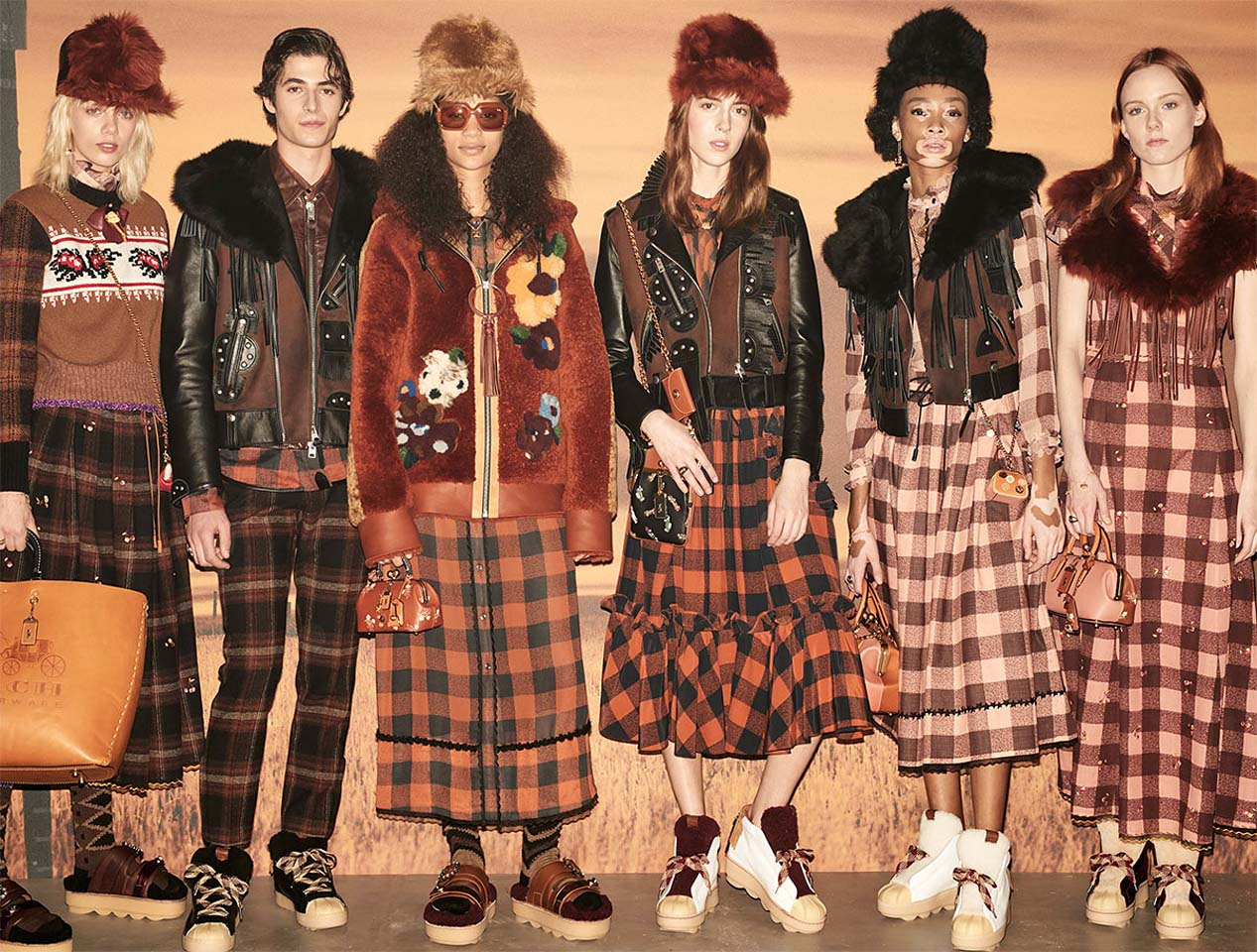 Coach Fall Winter 2017-outfit-collection (6)-models-dresses