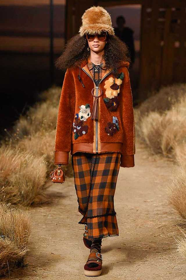 coach-fw17-rtw-fall-winter-2017-outfit-collection (9)-rust-dress-jacket-hat