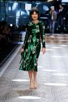dolce-and-gabbana-fw17-rtw-fall-winter-2017-18-collection (13)-green-shimmer-dress