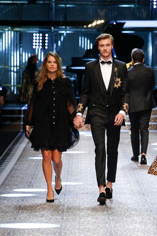dolce-and-gabbana-fw17-rtw-fall-winter-2017-18-collection (35)-black-dress-suit