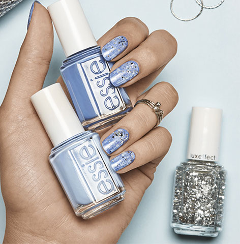 essie-blue-black-white-nail-polish-texture-effect-nail-art-designs-2017