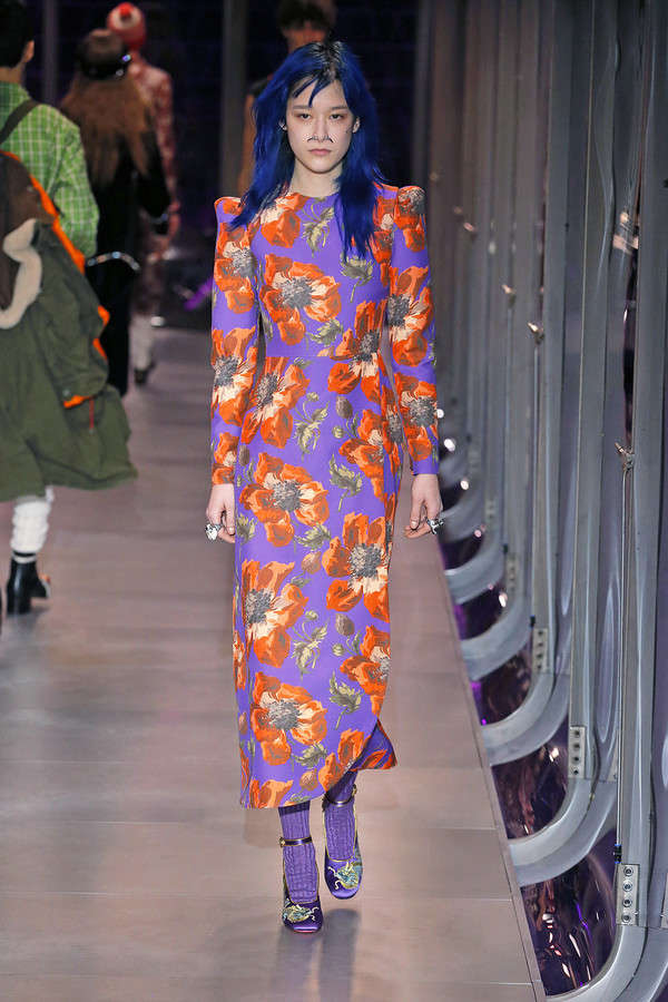 gucci-fw17-rtw-fall-winter-2017-2018-collection (106)-floral-dress