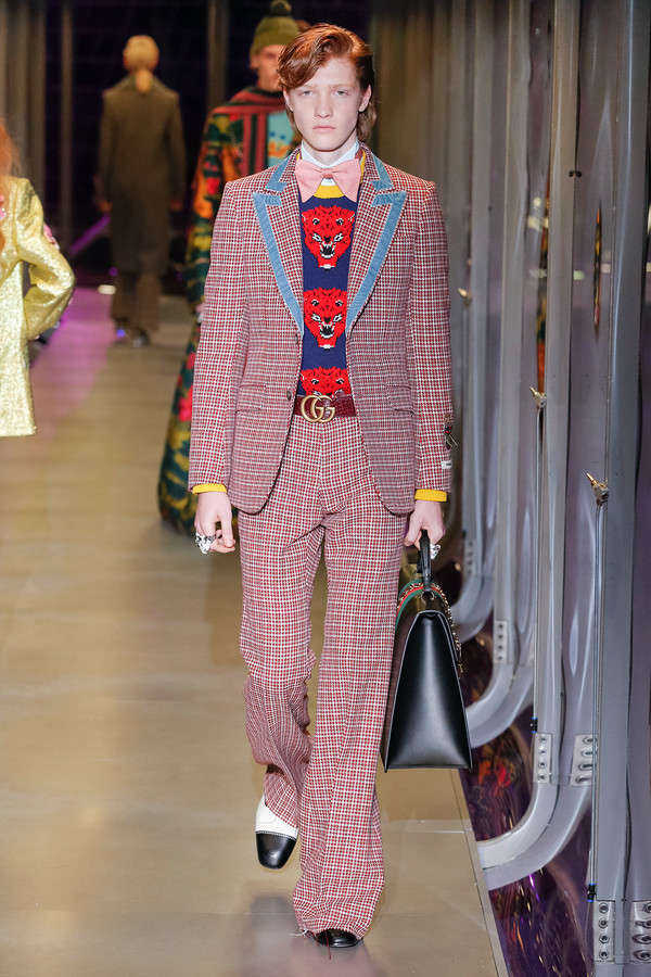 gucci-fw17-rtw-fall-winter-2017-2018-collection (12)-checkered-suit