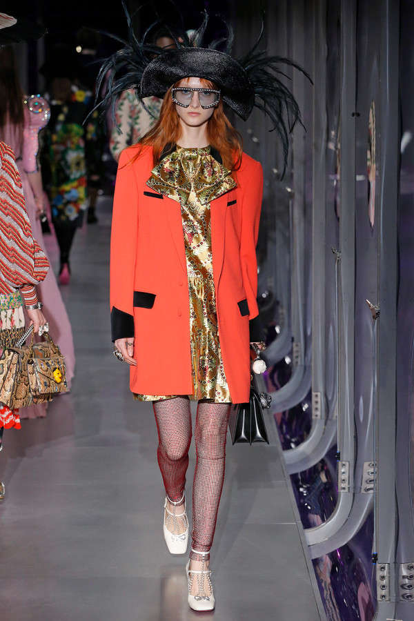 gucci-fw17-rtw-fall-winter-2017-2018-collection (61)-orange-coat