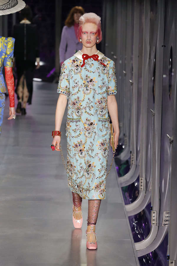 gucci-fw17-rtw-fall-winter-2017-2018-collection (78)-embellished-dress