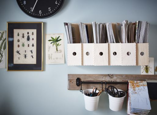ikea-cool-wall-workstation-decor-ideas-for-office-jars-organizers