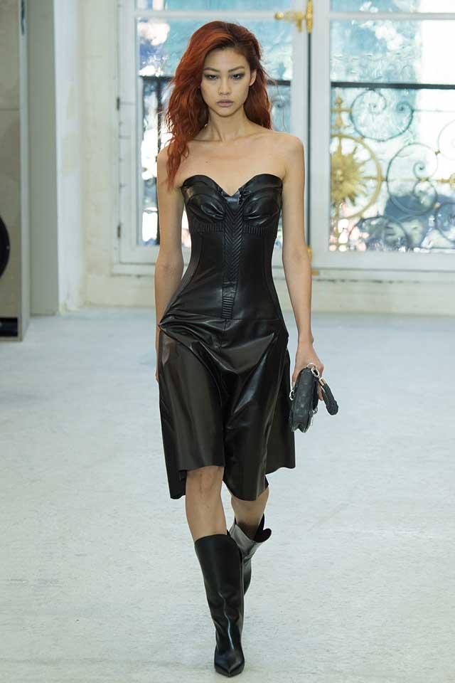 louis-vuitton -black-dress-leather-latest-fashion-colors-2017-color-trends-0