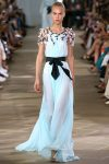 monique-lhuillier-runway-fashion-week-blue-dress-black-belt-ss17-latest-trends-in-gowns
