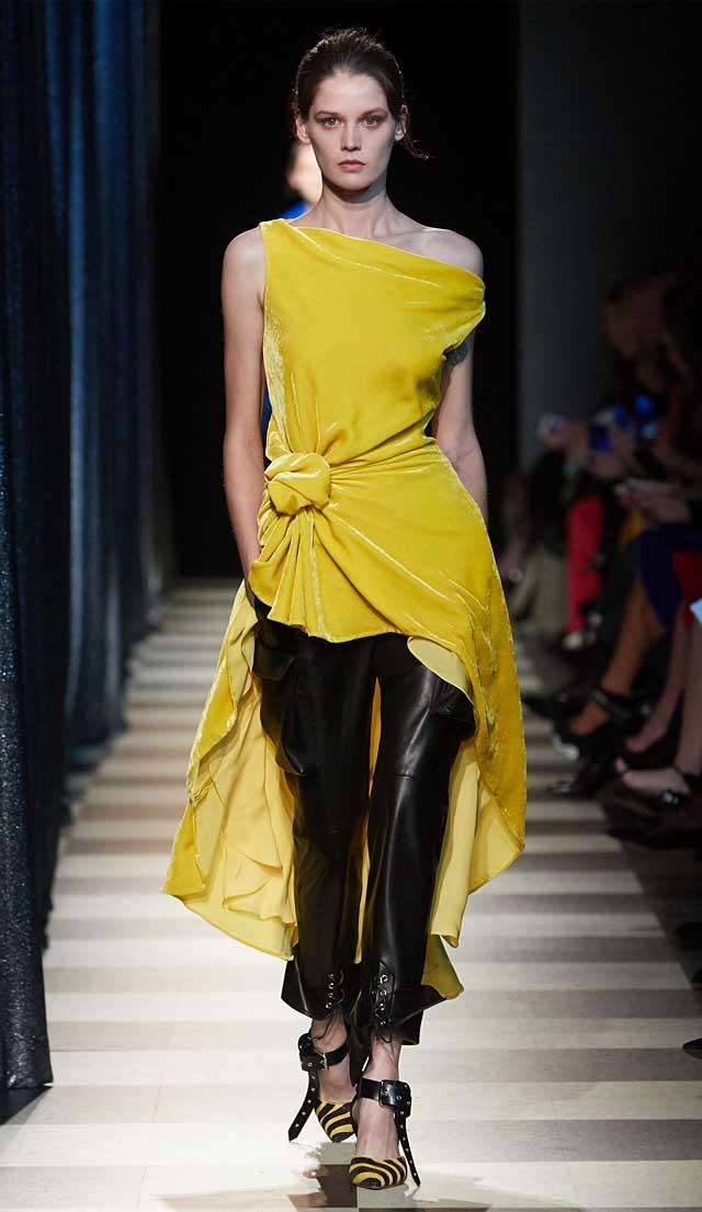 monse-fw17-rtw-fall-winter-2017-collection-ready-to-wear (19)-yellow-dress-pants-velvet
