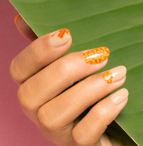 opi-nail-art-trends-latest-designs-orange-minimal-geometric