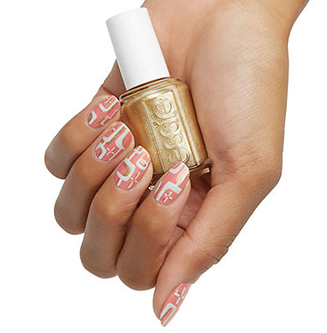 peach-white-nail-art-trendy-geometric-latest-2017-top-designs