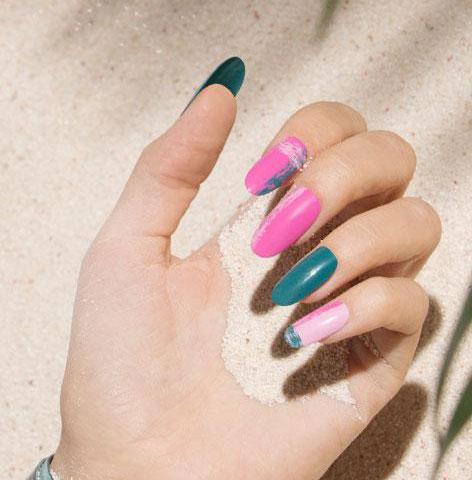 pink-nail-art-design-asymetric-2017-latest-trendy-designs-ideas