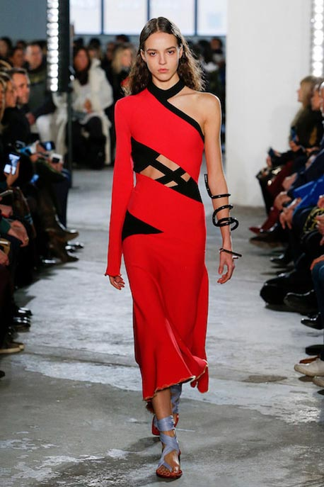proenza-schouler-fw17-rtw-fall-winter-2017-18-collection (11)-red-dress