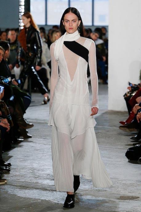proenza-schouler-fw17-rtw-fall-winter-2017-18-collection (22)-white-sheer-dress