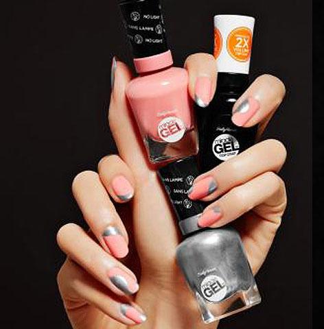 sally-hansen-silver-peach-two-colored-nail-art-latest-ideas-2017