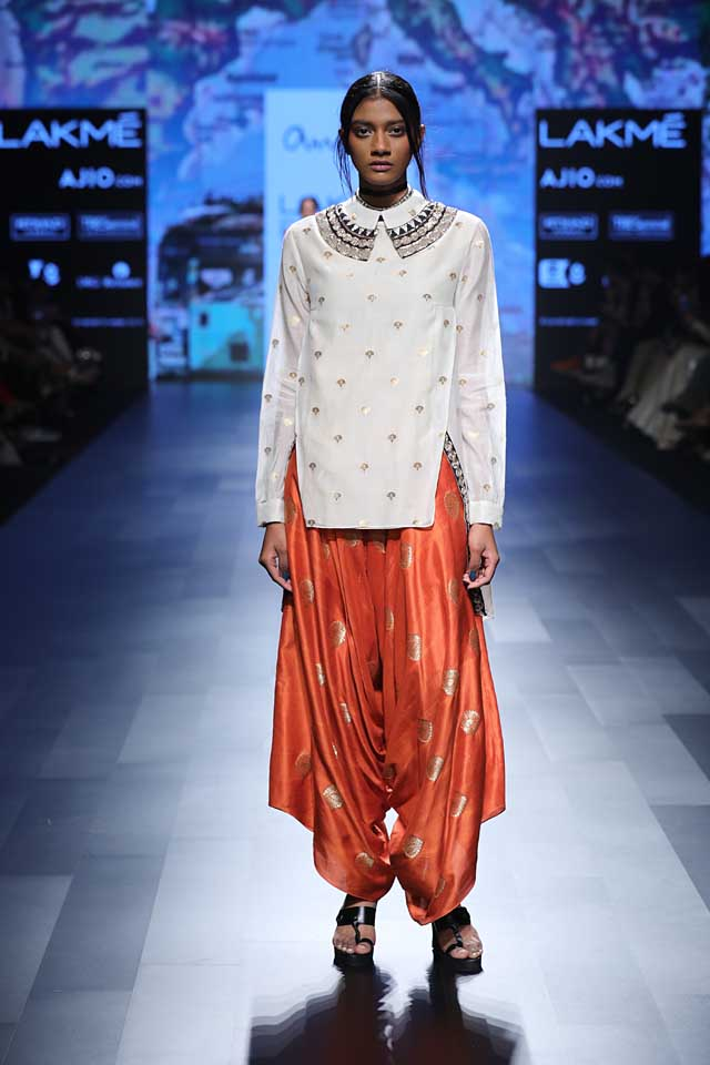 white-orange-dhoti-pants-lakme-fashion-week-summer-resort-2017-collection-lakme-fashion-wek
