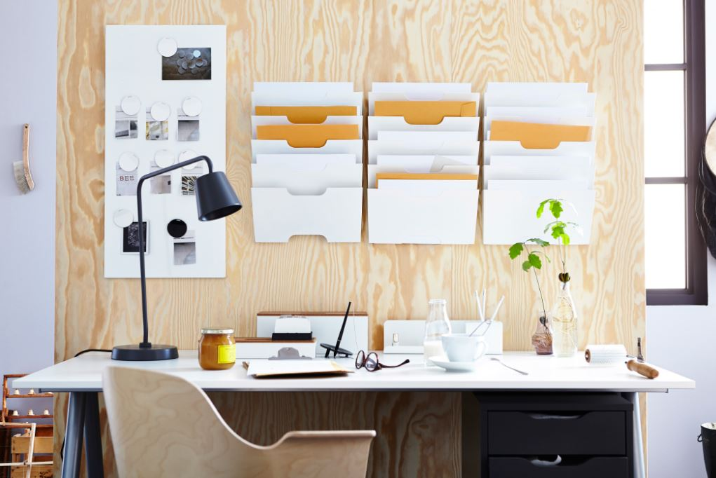 workstation-decor-files-organizers-cool-ideas-work-ikea-desk-decoration