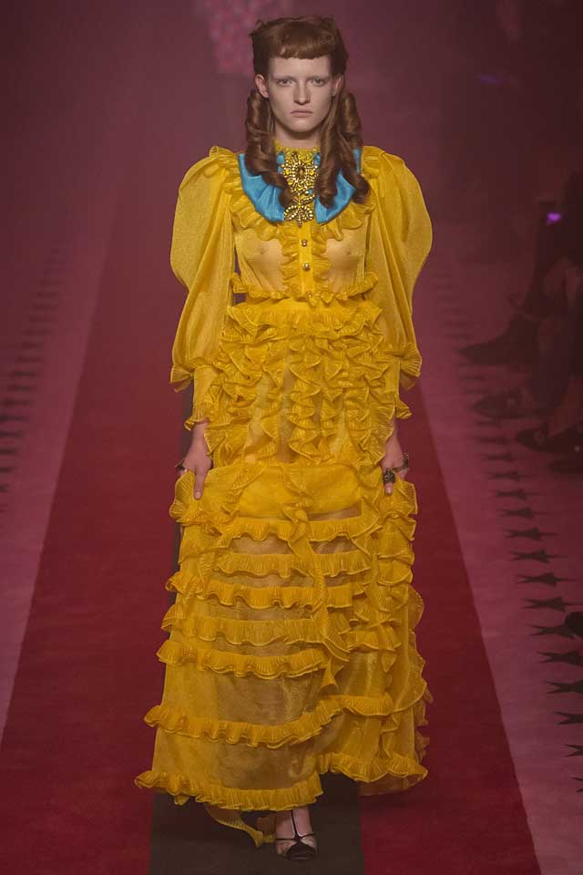 yellow-latest-fashion-colors-2017-color-trends--dress-gucci