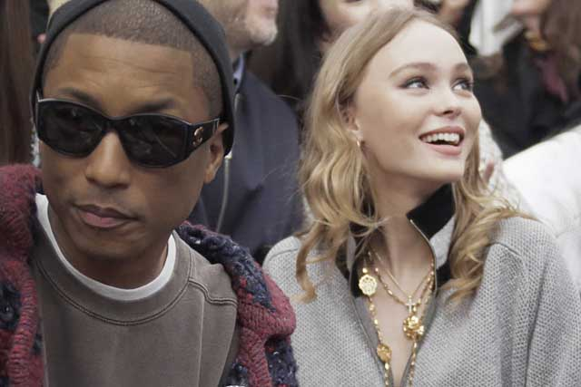 1-Pharrell Williams and Lily-Rose Depp-chanel-fw17-rtw-fall-winter-2017-18-collection-celeb-style