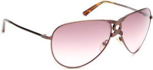 Guess GUESS WOMEN 6524 BRN-52 Aviator Sunglasses(Pink)