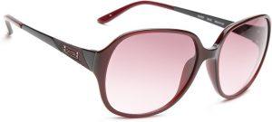 Guess GUESS WOMEN 7027 BU-52 Over-sized Sunglasses(Pink)
