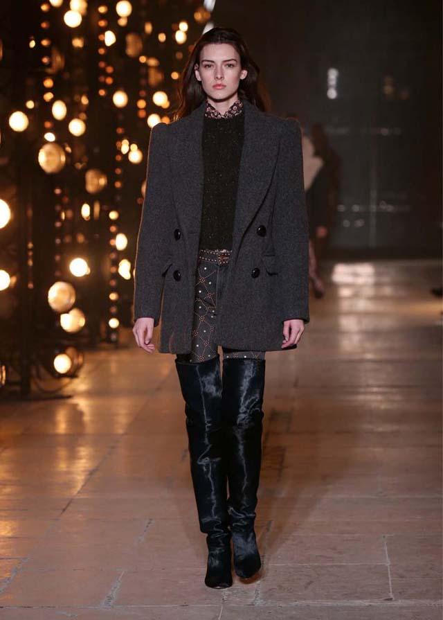 Isabel-Marant-fw17-fall-winter-2017 (19)-grey-jacket-black-booties