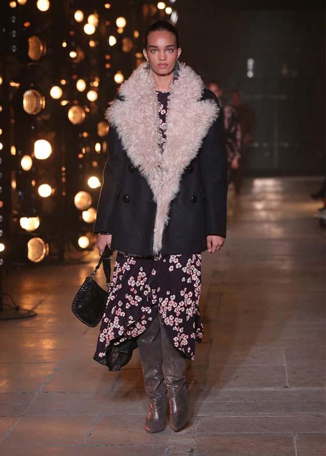 Isabel-Marant-fw17-fall-winter-2017 (20)-fur-collar-jacket-metallic-booties