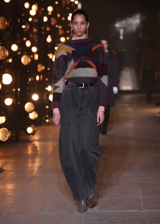 Isabel-Marant-fw17-fall-winter-2017 (27)-tee-formal-pants