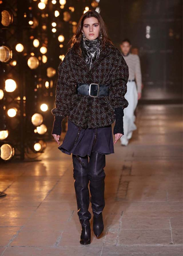 Isabel-Marant-fw17-fall-winter-2017 (29)-black-scarf-printed-jacket