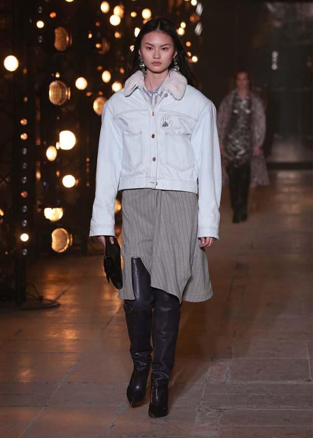 Isabel-Marant-fw17-fall-winter-2017 (32)-velevet-collar-jacket-knee-high-booties