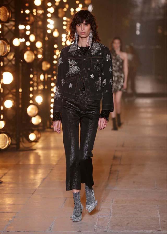 Isabel-Marant-fw17-fall-winter-2017 (8)-black-jacket-matching-set-grey-pumps